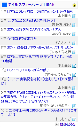 ブログ村注目記事