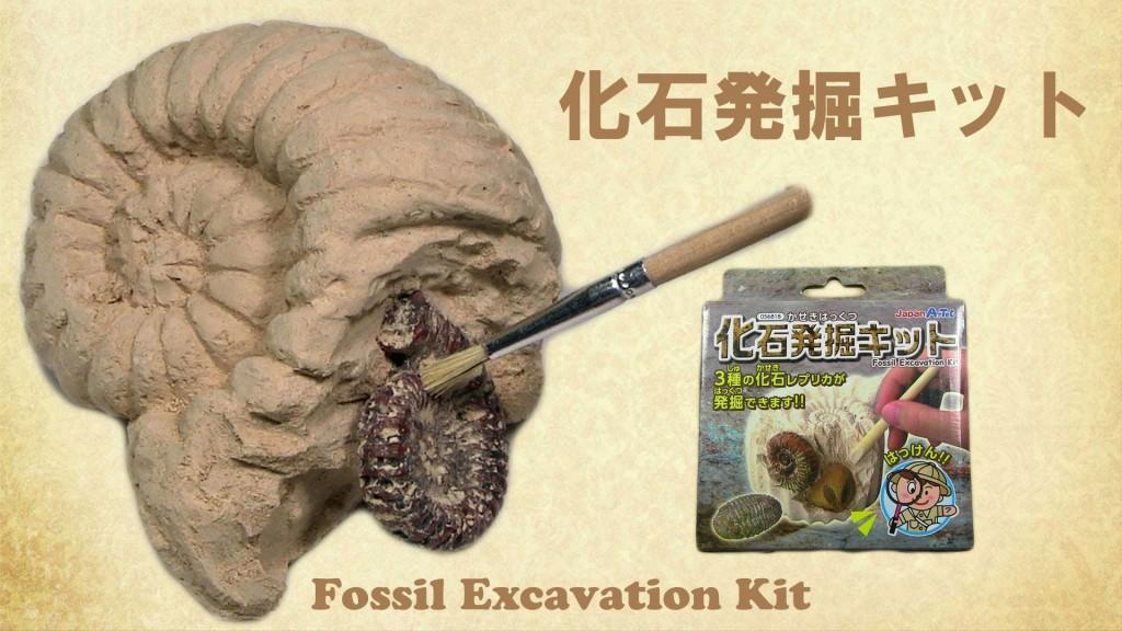 化石発掘セット
