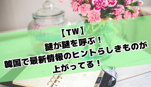 【TW】謎が謎を呼ぶ!韓国で最新情報のヒントらしきものが上がってる!